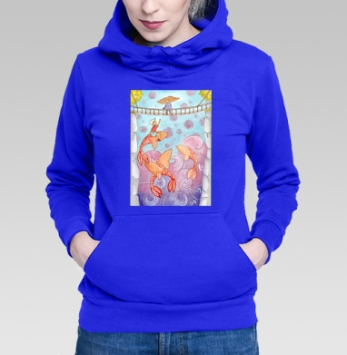 Оранжевые киты - Толстовки женские в интернет-магазине
