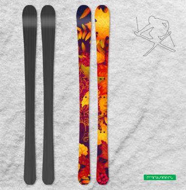 Дух осени - Наклейки на лыжи