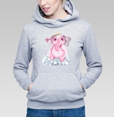 Pink elephant princess - Купить детские толстовки нежность в Москве, цена детских толстовок нежность  с прикольными принтами - магазин дизайнерской одежды MaryJane