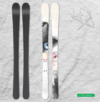 Котенок Бельканто запечатка - Наклейки на лыжи
