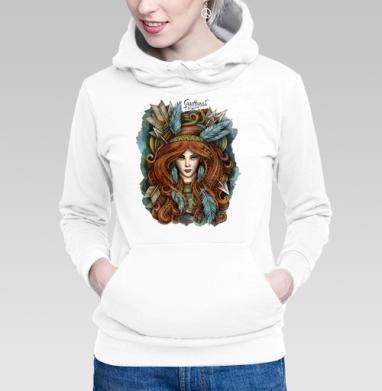 Толстовка Женская белая - Зодиак Стрелец