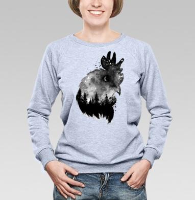 Ночной петух - Купить детские свитшоты с акварелью в Москве, цена детских свитшотов с акварелью  с прикольными принтами - магазин дизайнерской одежды MaryJane