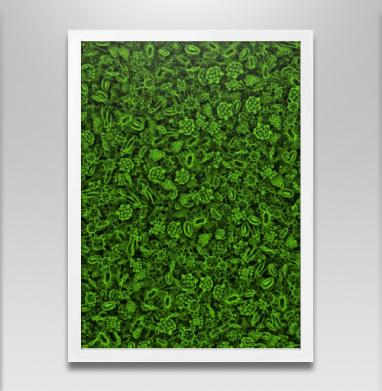 Микробы - Постер в белой раме, текстура
