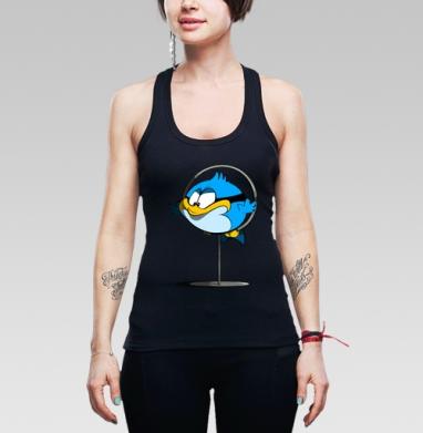 Борцовка женская чёрная рибана 200гр - Птеньчик