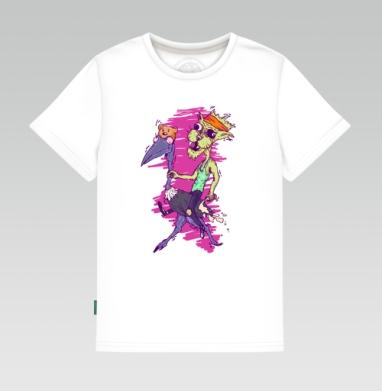 Детская футболка белая - Кот по кличке Кутёж