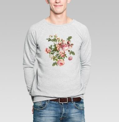 Розовые розы на черном фоне - Купить мужские свитшоты винтажные в Москве, цена мужских свитшотов винтажных  с прикольными принтами - магазин дизайнерской одежды MaryJane