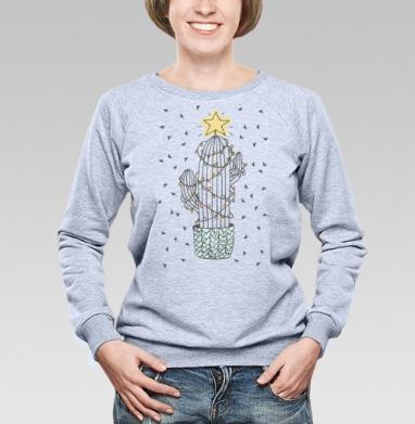 Новогодний кактус - Купить детские свитшоты с роботами в Москве, цена детских свитшотов с роботами с прикольными принтами - магазин дизайнерской одежды MaryJane