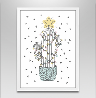 Новогодний кактус - Постеры, новый год, Популярные