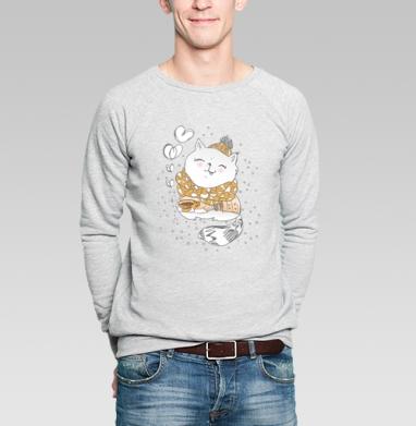 Свитшот мужской без капюшона серый меланж, свитшот серый меланж - Каталог продукции интернет-магазина футболок №1 Мэриджейн