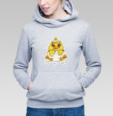 Толстовка Женская серый меланж, серый меланж - Каталог продукции интернет-магазина футболок №1 Мэриджейн