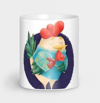 Мечтательный Петушок с петушком - Кружки с логотипом