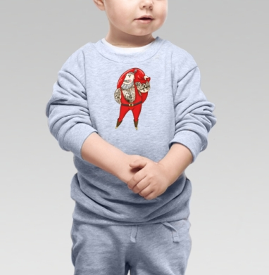 Cвитшот Детский серый меланж, свитшот серый меланж - Каталог продукции интернет-магазина футболок №1 Мэриджейн
