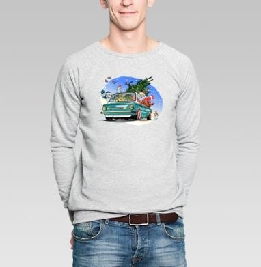 Ралли новый год - Купить мужские свитшоты Новый год в Москве, цена мужских  новогодних  с прикольными принтами - магазин дизайнерской одежды MaryJane