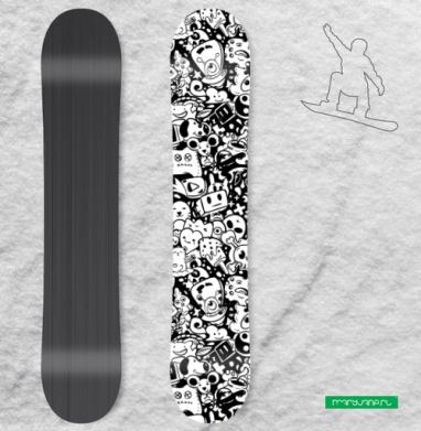 Дудлы  - Виниловые наклейки на сноуборд купить с доставкой. Воронеж