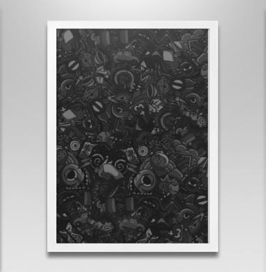 Темный дудл - Постеры, мужские, Популярные
