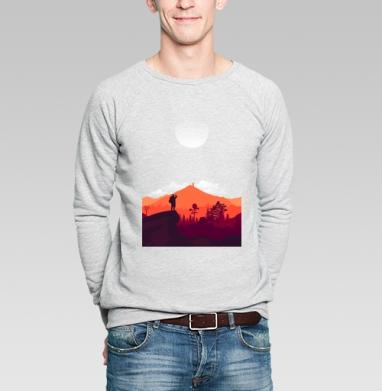 Турист - Купить мужские свитшоты с деревьями в Москве, цена мужских свитшотов с деревьями  с прикольными принтами - магазин дизайнерской одежды MaryJane