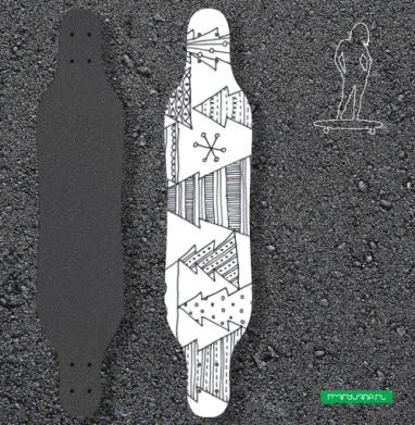 Ёлки - Наклейки на лонгборд