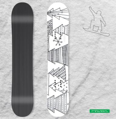 Ёлки - Наклейки на доски - сноуборд, скейтборд, лыжи, кайтсерфинг, вэйк, серф