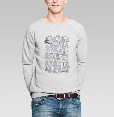 Ёлки - Купить мужские свитшоты с усами в Москве, цена мужских свитшотов с усами  с прикольными принтами - магазин дизайнерской одежды MaryJane