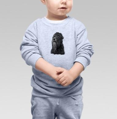 Русский черный терьер, Cвитшот Детский серый меланж