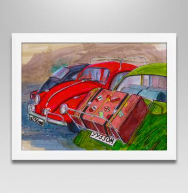 Красный фольксваген жук - Постеры, индеец, Популярные