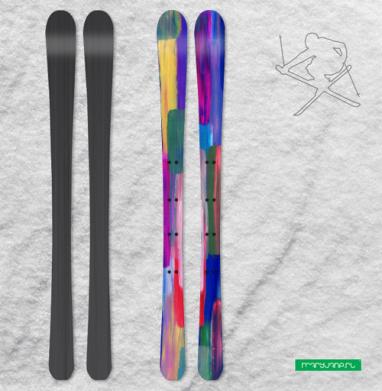Солнечный дождь - Наклейки на лыжи