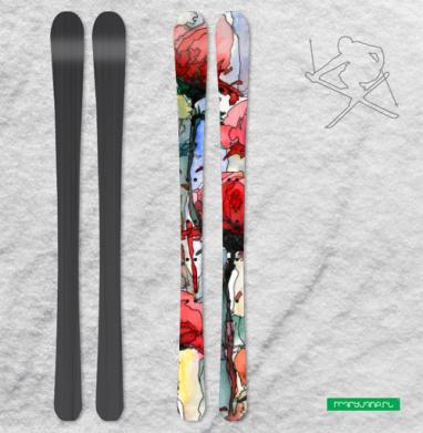 Розы - Наклейки на лыжи