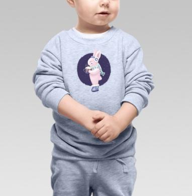Зайка с какао - Купить детские свитшоты романтика в Москве, цена детских свитшотов романтических  с прикольными принтами - магазин дизайнерской одежды MaryJane