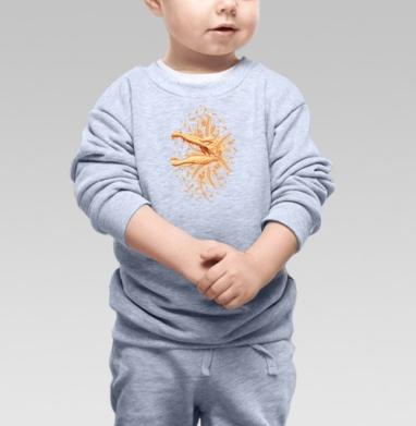 Золото Юрского Периода, Cвитшот Детский серый меланж