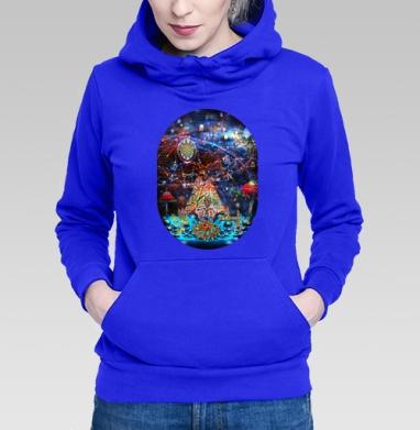 Толстовка Женская синяя - Вечеринка у шаманов