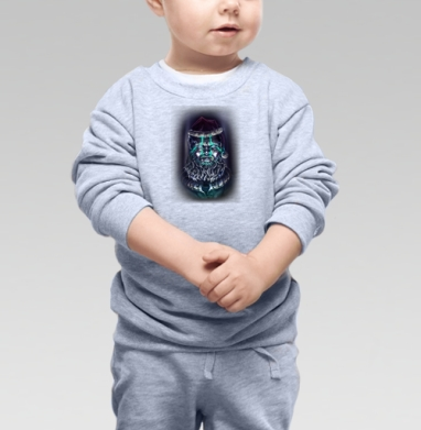 Цифровой Санта, Cвитшот Детский серый меланж
