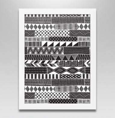 Полосатая графика, Постер в белой раме