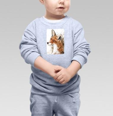 Рыжая лиса, Cвитшот Детский серый меланж