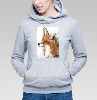 Рыжая лиса - Купить детские толстовки с акварелью в Москве, цена детских толстовок с акварелью  с прикольными принтами - магазин дизайнерской одежды MaryJane