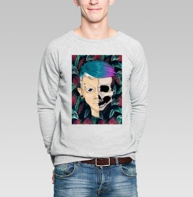 Череп - Купить мужские свитшоты Текстуры в Москве, цена мужских свитшотов Текстуры с прикольными принтами - магазин дизайнерской одежды MaryJane
