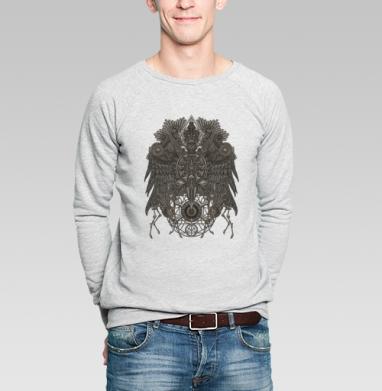 Великий Орёл, Свитшот мужской без капюшона серый меланж