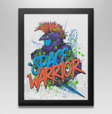 Космический воин, Постер в чёрной раме