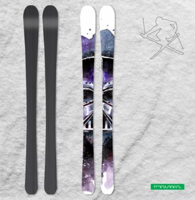 Влюбленный Дарт - Наклейки на лыжи