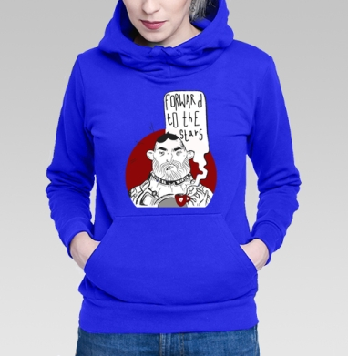 Толстовка Женская синяя, синий - Каталог продукции интернет-магазина футболок №1 Мэриджейн