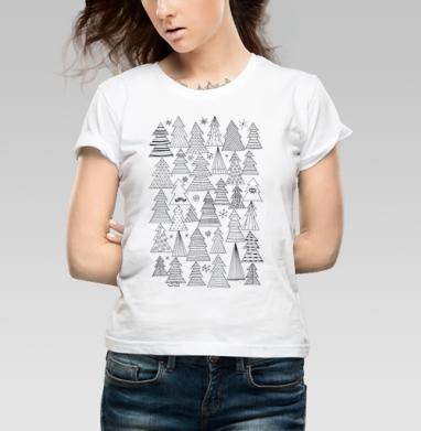 Ёлки - Купить детские футболки Новый год в Москве, цена детских футболок новогодних  с прикольными принтами - магазин дизайнерской одежды MaryJane