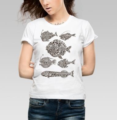 Глубоководные - Купить детские футболки с рыбой в Москве, цена детских футболок с рыбой  с прикольными принтами - магазин дизайнерской одежды MaryJane