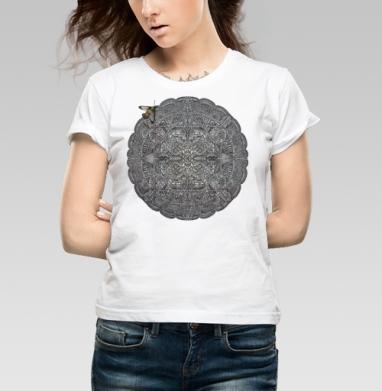 Каменный орнамент - Купить детские футболки паттерн в Москве, цена детских футболок с паттерном  с прикольными принтами - магазин дизайнерской одежды MaryJane