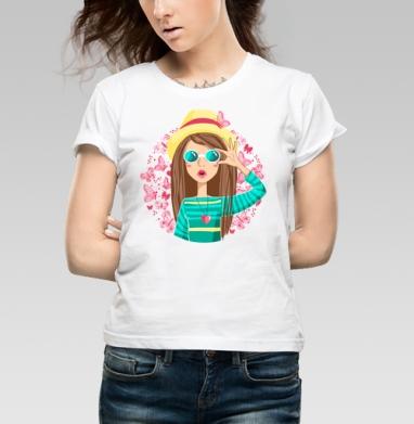 Лето - Купить детские футболки с бабочками в Москве, цена детских футболок с бабочкой с прикольными принтами - магазин дизайнерской одежды MaryJane