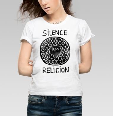 Молчание - моя религия - Купить детские футболки с рыбой в Москве, цена детских футболок с рыбой  с прикольными принтами - магазин дизайнерской одежды MaryJane