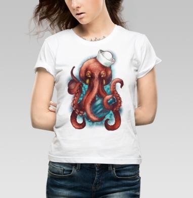 Осьминог Вилли - Купить детские футболки алкоголь в Москве, цена детских футболок с алкоголем с прикольными принтами - магазин дизайнерской одежды MaryJane