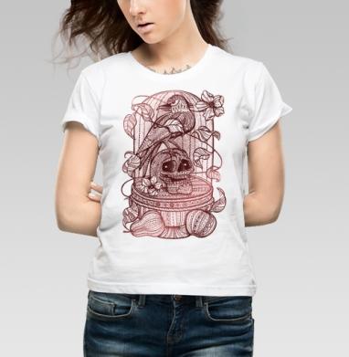 Ворон в хрустальной клетке - Купить детские футболки свобода в Москве, цена детских футболок свобода  с прикольными принтами - магазин дизайнерской одежды MaryJane