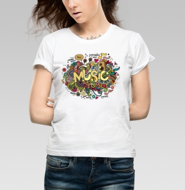 Музыка - Купить детские футболки хипстерские в Москве, цена детских футболок хипстерских  с прикольными принтами - магазин дизайнерской одежды MaryJane