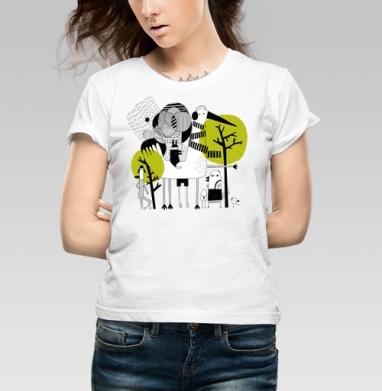 Прогулка - Купить детские футболки абстрактные в Москве, цена детских футболок абстрактных  с прикольными принтами - магазин дизайнерской одежды MaryJane