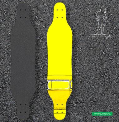 Жёлтый Автобус - Наклейки на лонгборд
