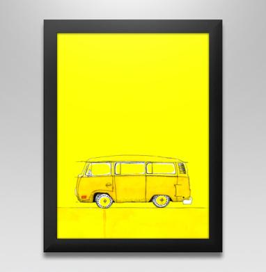 Жёлтый Автобус, Постер в чёрной раме